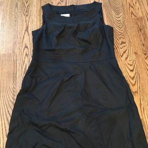 Talbots black linen dress